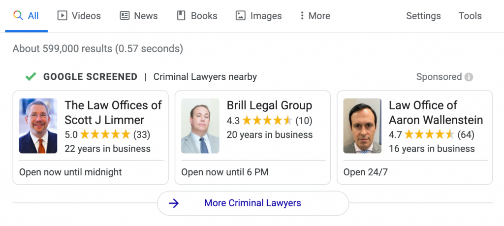 Google Local Service Ads for Lawyers