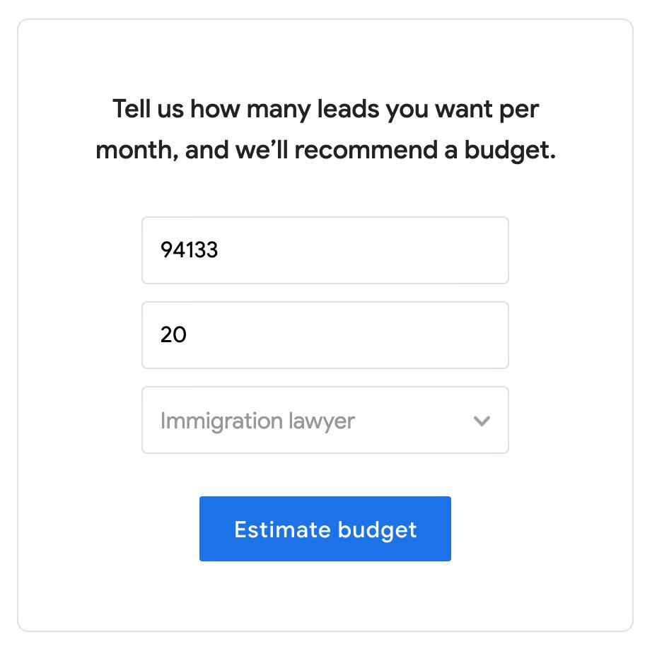 Google Local Service Ad Cost Estimator