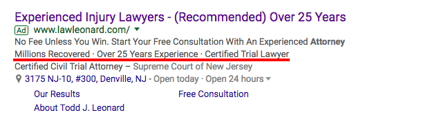 Adwords Callout