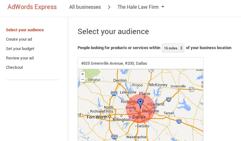 AdWords Express turns your Google+ Local profile into a paid advertisement. You to set a monthly budget; Google manages the placement and exposure.