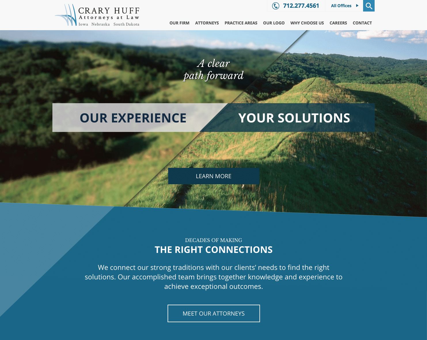Crary Huff Law Firm - Business Website Design Example