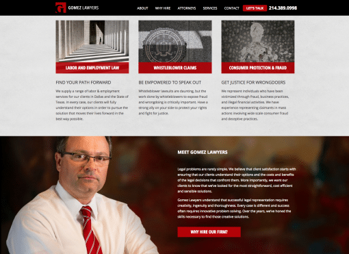 Gomez Lawyers Website