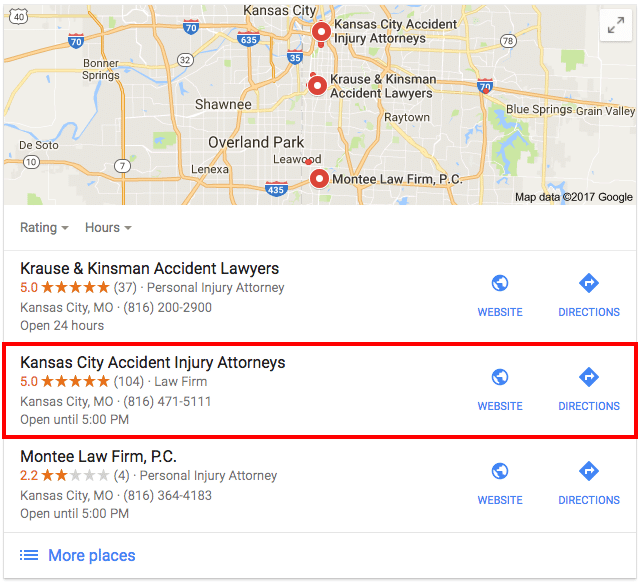 Google Maps Kansas City Search