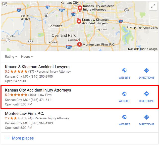Google Maps Kansas City Search