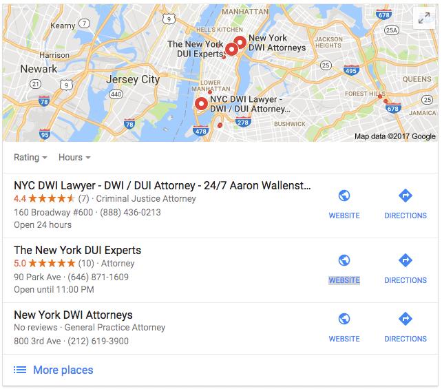 Google Maps Spam in New York City
