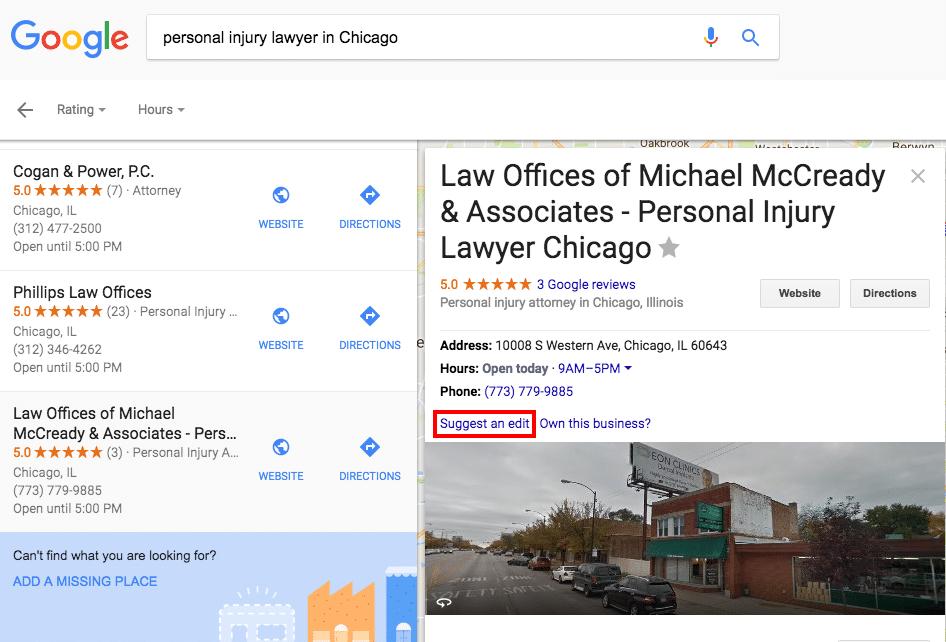 Edit Google Maps Spam