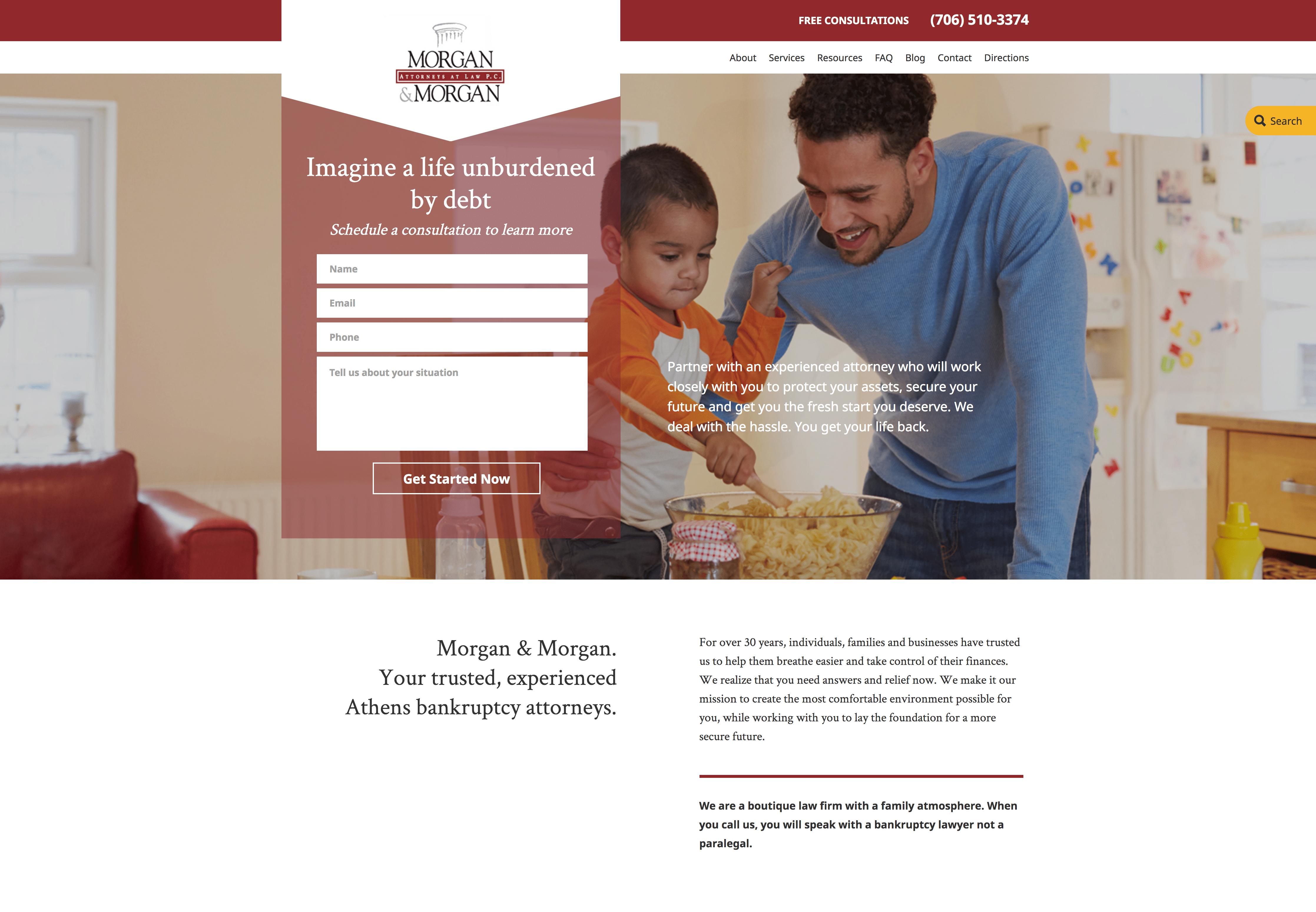Morgan & Morgan homepage