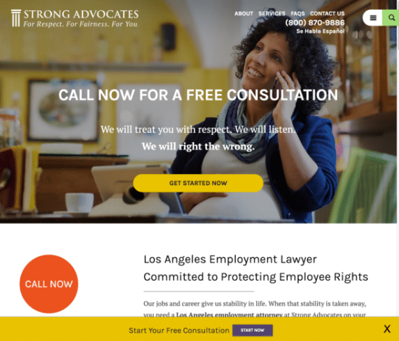 Strong Advocates website