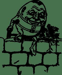 Humpty Dumpty Demonstrates Rhyming and Marketing