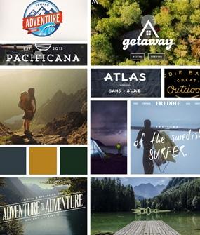 moodboard adventure web